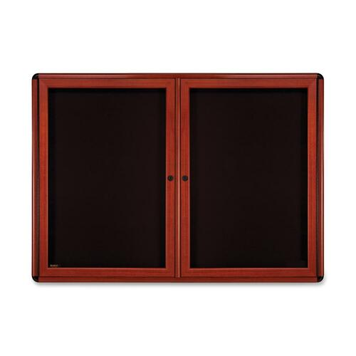 Ghent Manufacturing OVMCB2F95 Ovation Enclosed Tack Board, 2-Door