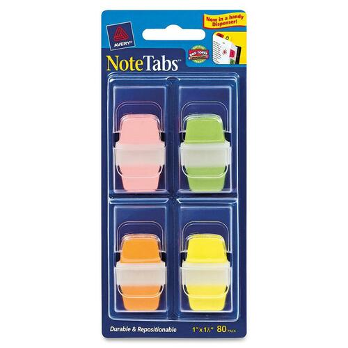 Avery Dennison NoteTabs Citrus File Tab with Dispenser