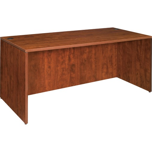 Lorell Essentials Series Cherry Laminate Desking | by Plexsupply