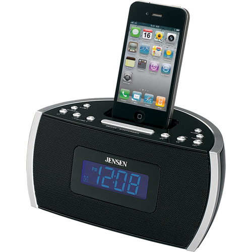 Jensen Desktop Clock Radio - Apple Dock Interface