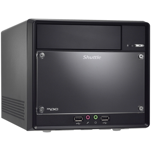 Shuttle XPC SH61R4 Barebone System Mini PC - Intel H61 Express Chipset - Socket H2 LGA-1155 - 1 x Total Processor - Core i3,