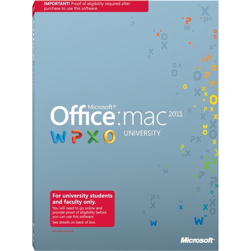 Microsoft Office:mac 2011 University With Service Pack 1 - Complete Product