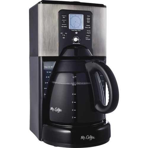 Jarden FTX-41-NP 12-Cup Programmable Coffeemaker, Brush of Metal - Black