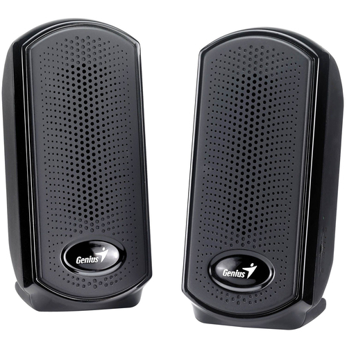 Genius SP-U110 2.0 Speaker System - 1 W RMS - Piano Black