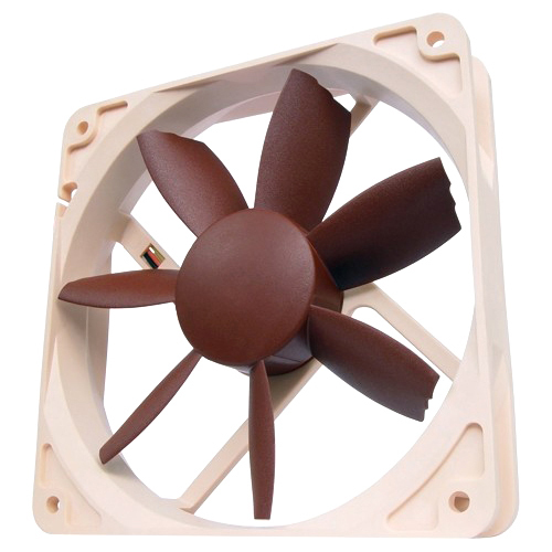 Noctua NF-S12B FLX 120 mm 3 Speed Setting Beveled Blade Tips Design SSO Bearing Fan SCD 2 - Retail