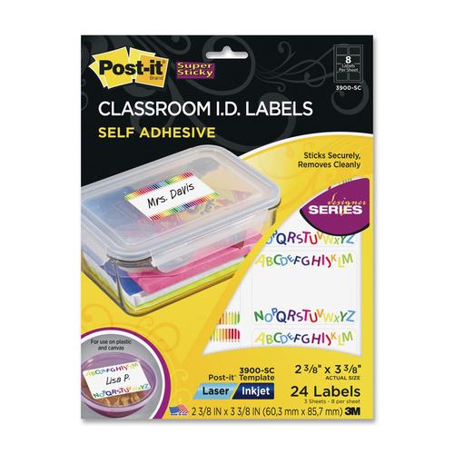 3M 3900SC Designer Classroom I.D Label