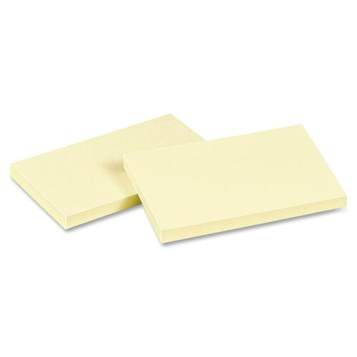"Avery Dennison 22667 Sticky Note Pad, Removable - 3"" x 5"" - Pastel Yellow - 12 / Pack"