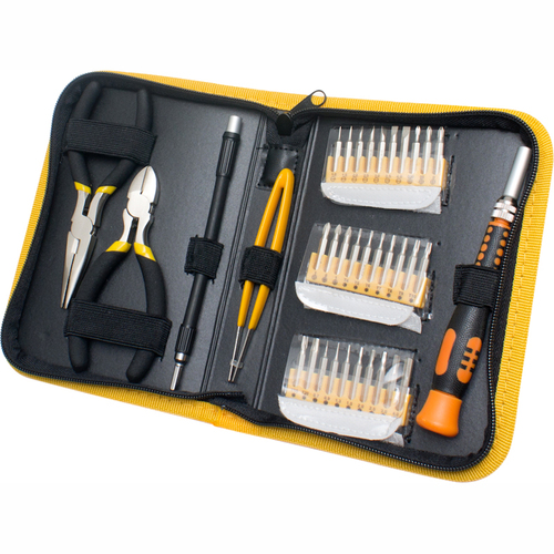 SYBA Multimedia 35 Piece Multi-purpose Precision Screwdriver Set in a Handsomely Organized Case