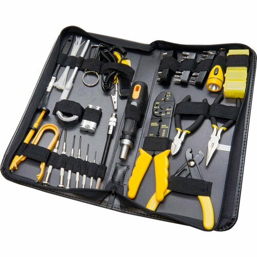 SYBA Multimedia 58 Piece Tool Kit for Handyman, Computer Technician, and Electrician