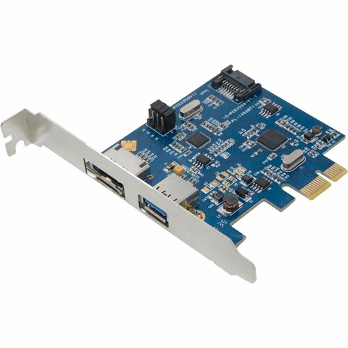 SYBA Multimedia Combo Ports USB 3.0 + SATA 6G PCI-e Card, Switchable Internal/External SATA Port