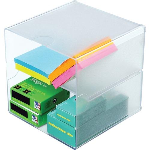 Deflecto Plastic Cube Organizer    by Plexsupply