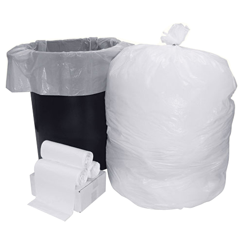 "Boardwalk Can Liner - 33 gal - 39"" x 33"" - 0.60 mil Thickness - Resin, Plastic - 75/Carton - White"