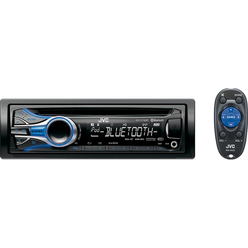 JVC KD-R730BT Car CD/MP3 Player - 80 W RMS - iPod/iPhone Compatible - Single DIN