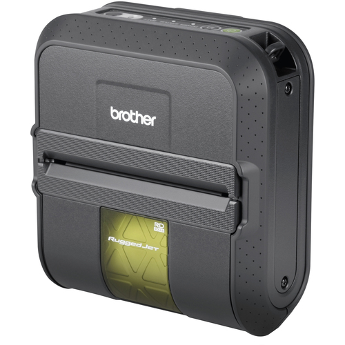 Brother RuggedJet RJ4030-K Direct Thermal Printer - Monochrome - Portable - Label Print