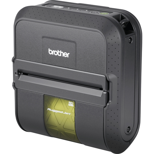 Brother RuggedJet RJ4040-K Direct Thermal Printer - Monochrome - Portable - Label Print