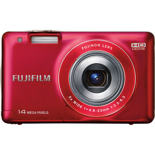 Fujifilm 16210334 FinePix JX500 14 Megapixel Compact Camera - Red