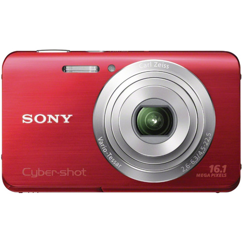 Sony Cyber-shot DSC-W650 16.1 Megapixel Compact Camera - Red