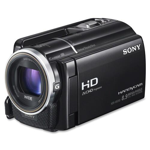 "Sony Handycam HDRXR260V Digital Camcorder - 3"" - Touchscreen LCD - CMOS - Full HD - Black"