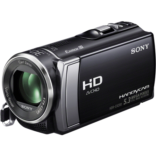 "Sony Handycam HDR-CX200 Digital Camcorder - 2.7"" - Touchscreen LCD - Exmor R CMOS - Full HD - Black"