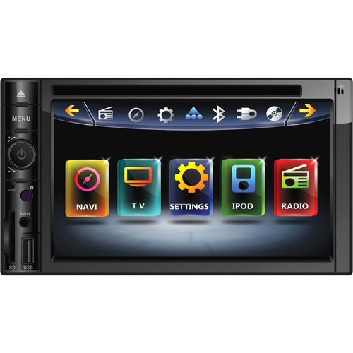 "Power Acoustik Inteq PD-622NB Car DVD Player - 6.2"" Touchscreen LCD Display - 800 x 480 - 68 W RMS - iPod/iPhone Compatible - In-dash"