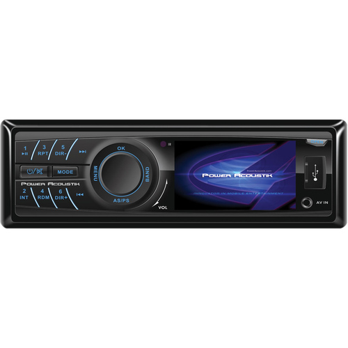 "Power Acoustik PD-320 Car DVD Player - 3.2"" LCD Display - 320 x 240 - 160 W RMS - In-dash - Single DIN"