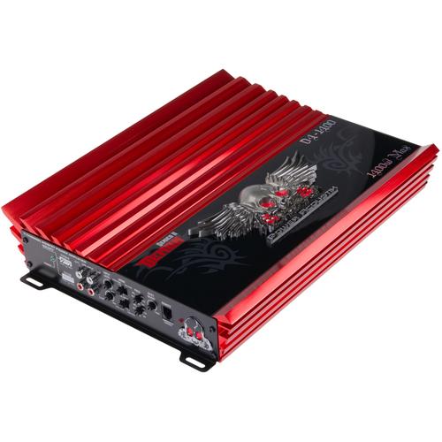 Power Acoustik Demon D4-1400B Car Amplifier - 4 x 120 W @ 4 Ohm - 4 x 150 W @ 2 Ohm - 1400 W PMPO - 4 Channel - Class AB