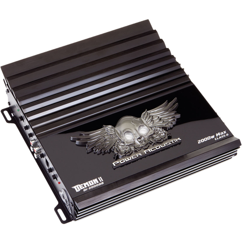 Power Acoustik Demon D1-2000DB Car Amplifier - 1 x 600 W @ 4 Ohm - 1 x 900 W @ 2 Ohm - 2000 W PMPO - 1 Channel - Class D