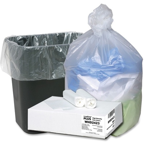 "Can liners, 7-10 gallon, 24""x24"", 500/ct, translucent, sold as 1 carton, 50 bag per carton"
