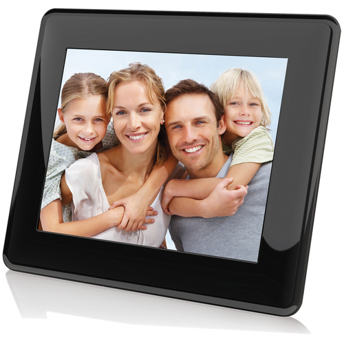 "Coby 8"" Digital Photo Wooden Frame with Multimedia Playback"