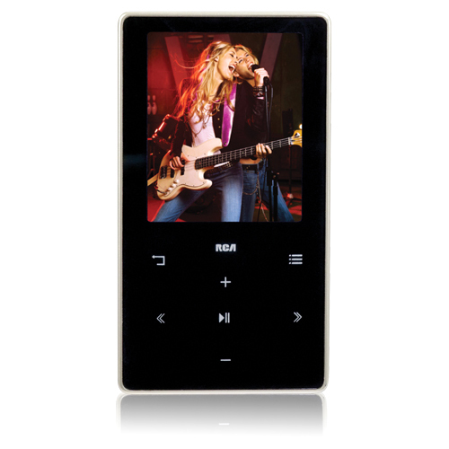"Audiovox M6204 4GB Black Flash Portable Media Player - Audio/Video Player, Photo Viewer, FM Tuner, FM Recorder - 2"" Color LCD"