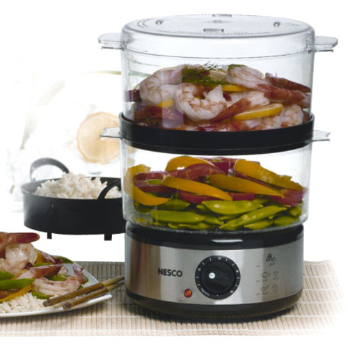 The Metal Ware Corporation 5 Qt BPA Free Food Steamer with Rice Bowl