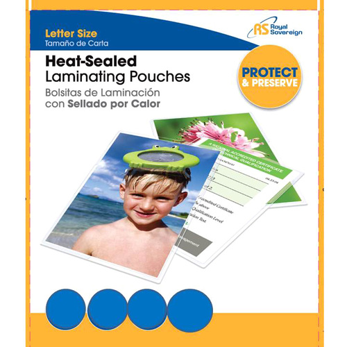 Royal Sovereign International RFO5LETR0100 Heat Sealed Laminating Pouch