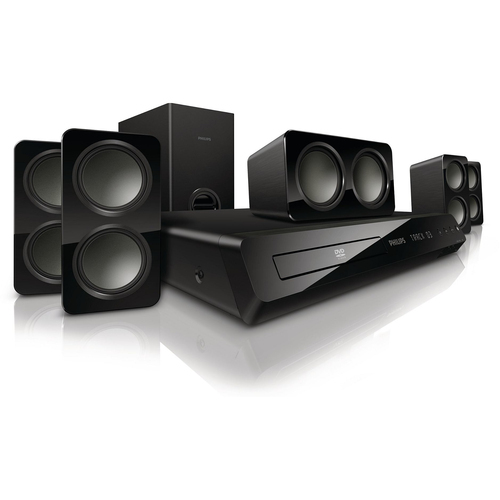 Philips Immersive Sound HTS3531 5.1 Home Theater System - 300 W RMS - DVD Player