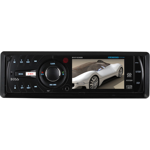 "Boss Audio BV7338B Car DVD Player - 3.2"" LCD Display - 960 x 240 - 320 W RMS - iPod/iPhone Compatible - In-dash - Single DIN"