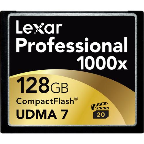 Lexar LCF128CTBNA1000 Professional 128 GB CompactFlash (CF) Card - 1 Card/1 Pack