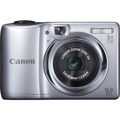 Canon PowerShot A1300 16 Megapixel Compact Camera - Silver