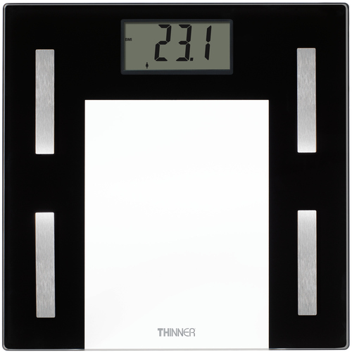 Conair Thinner Glass Body Analysis Scale with USB Connection