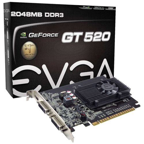 EVGA 02G-P3-1527-KR GeForce GT 520 Graphic Card - 810 MHz Core - 2 GB - PCI Express 2.0 x16