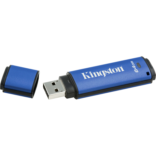 Kingston DataTraveler Vault 64 GB USB 2.0 Flash Drive - 1 Pack