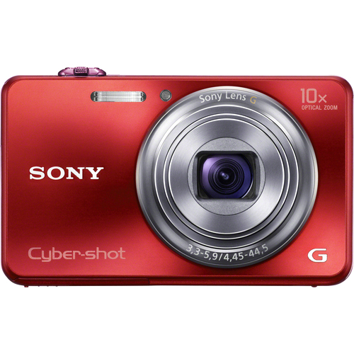 Sony Cyber-shot DSC-WX150 18.2 Megapixel 3D Panorama Compact Camera - Red