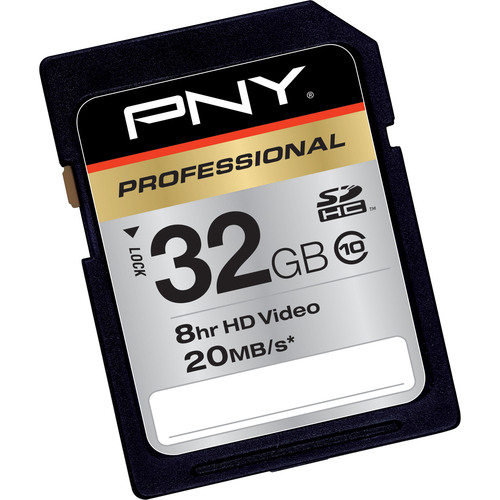 PNY P-SDHC32G10-EF 32 GB Secure Digital High Capacity (SDHC) - 1 Card