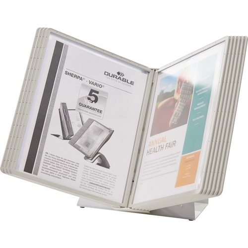 Durable Desk Reference System w/ Display Sleeves | by Plexsupply