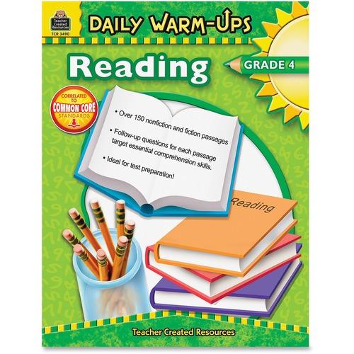 Teacher Created Res. Warm-up Grade 4 Reading Rook  | by Plexsupply