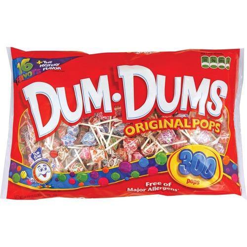 Dum Dum Pops Original Candy 300/Bag