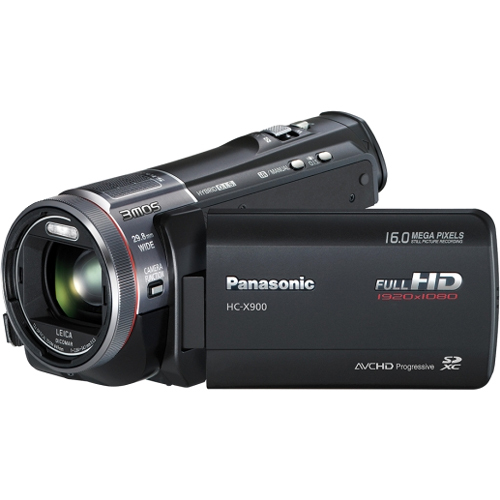 "Panasonic HC-X900 Digital Camcorder - 3.5"" LCD - MOS - Full HD - Black"