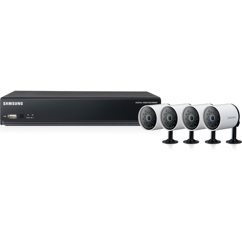 Samsung 4Channel H.264 DVR with 4 High Resolution IR Cameras