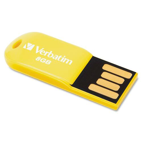Verbatim Store 'n' Go Micro 47422 8 GB USB 2.0 Flash Drive - Sunkissed Yellow