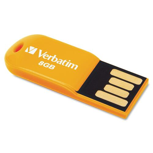 Verbatim Store 'n' Go Micro 47426 8 GB USB 2.0 Flash Drive - Volcanic Orange