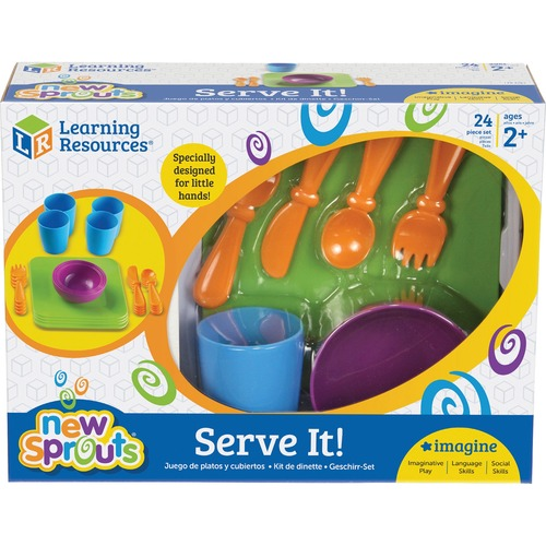 Learning Res. New Sprouts Role Play Dish Set | by Plexsupply