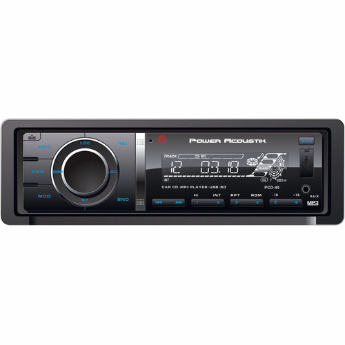 Power Acoustik PCD-40 Car DVD Player - LCD Display - 68 W RMS - In-dash - Single DIN